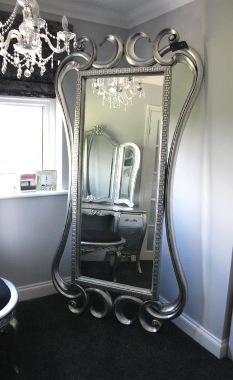 Silver Contemporary French Mirror